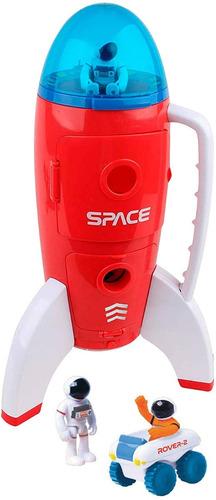 Imagen 1 de 5 de Cohete Nave Espacial C/ Luz Y Sonido Astr Venture 63114 Full
