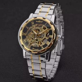 Relógio De Pulso Esqueleto Masculino Barato Semi Automático