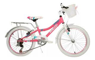 Bicicleta Infantil Rodado 20 6 Velocidades Philco Patio Ros