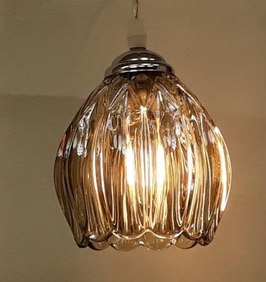 Luminária Pendente Vidro Iluminação Led Econômico