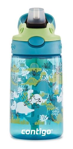 Imagem 1 de 8 de Garrafinha Squeeze Infantil Contigo ® Kids Dinossauros 414ml
