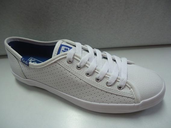 Tênis Keds Kickstart Perf Leather Branco/marinho (original)