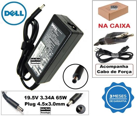 Carregador Para Notebook Dell 19.5v 3.34a 65w Novo!