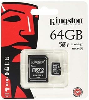 Cartao De Memoria Kingston 64gb Original Micro Sd Com Nf