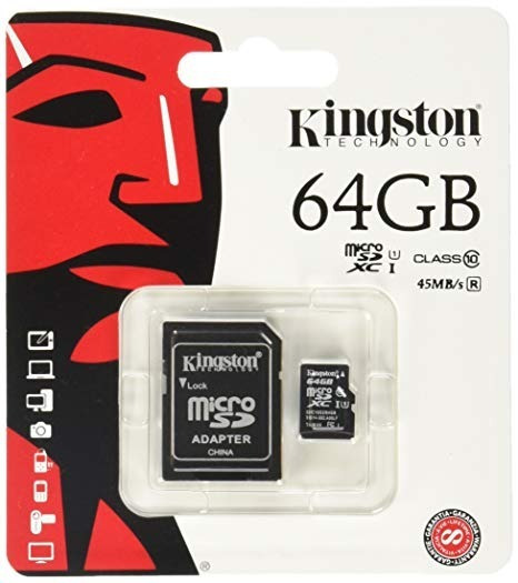 Cartao De Memoria Kingston 64gb Original Micro Sd Com Nf