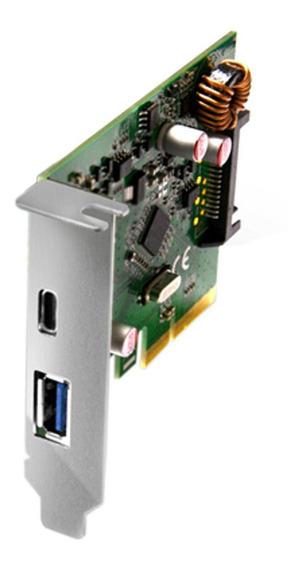 Placa Pci-e Com 2 Portas Usb 3.1 Tipo A E C Comtac 9327