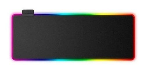 Mousepad Gamer Led Rgb Usb 80x30cm Negro