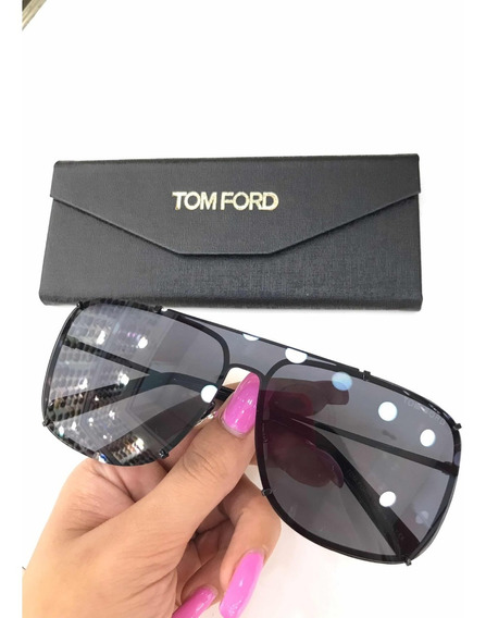 Óculos De Sol Tom Ford Máscara Metal Unissex