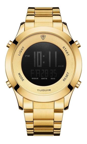Relógio Masculino Tuguir Digital Tg103 - Dourado