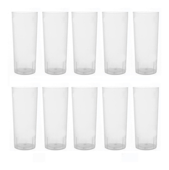 Vaso Descartable Fiesta Flexible Trago Largo Pp X 100 Unid