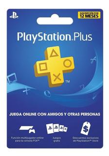 Ps Plus Playstation Plus 12 Meses Multi-region Ps4 Ps3 Vita