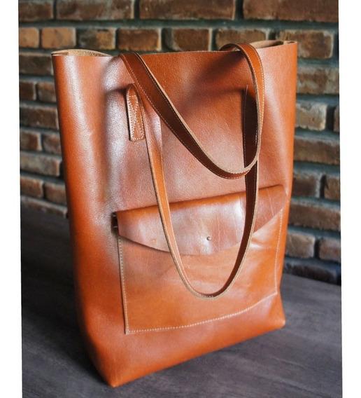 Tote Bag. Única 100% Cuero Vacuno Boutique. Handmade