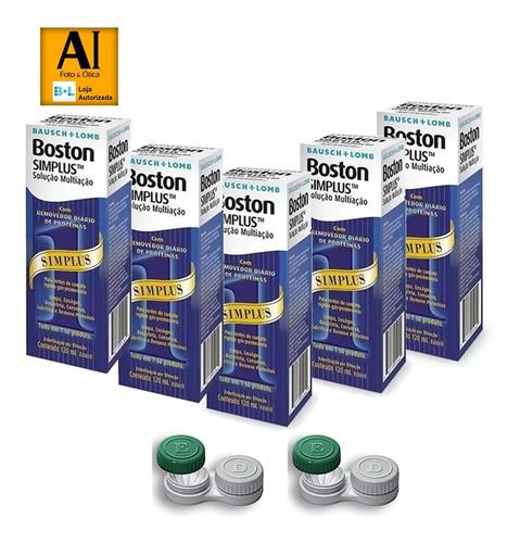 5 Boston Simplus 120ml Solução Multiação + Economia