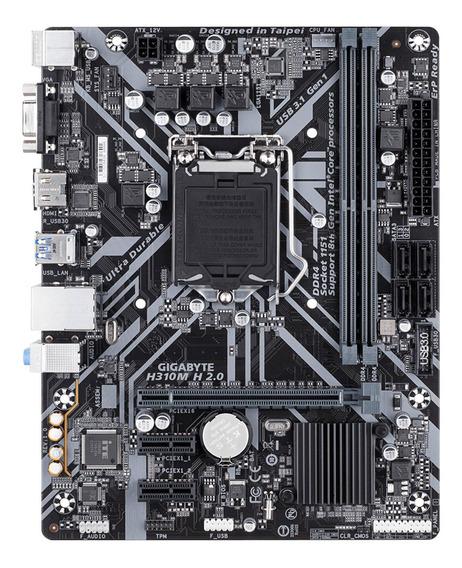 Mb Gigabyte H310 Intel S-1151 9a Gen/2xddr4 2666mhz/vga/hdmi