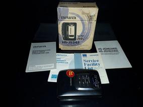 Walkman Antigo Aiwa Hs-j5245 Caixa Manual Sem Funcionar Som