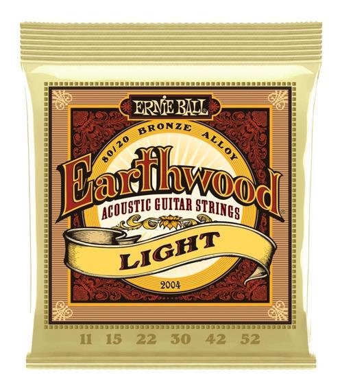 Encordadura Guitarra Ernie Ball Earthwood 11-52.