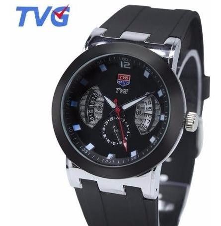 Relógio De Pulso Tvg 478 Pulseira De Borracha Rubber Strap