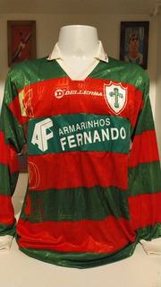 Camisa Futebol Portuguesa Alex Alves Mangas Longas 1996