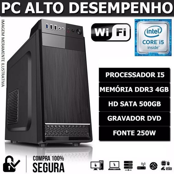 Computador Pc Cpu Intel Core I5 3.10ghz 4gb Hd500gb Dvd Wifi