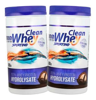 2 Clean Whey Protein Hidrolisada 600g Glanbia
