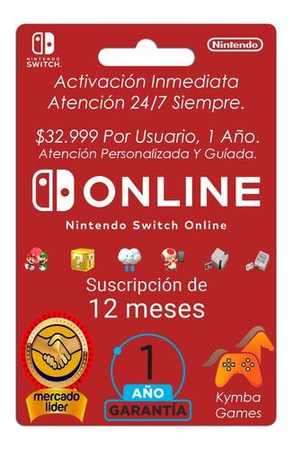 Suscripción A Nintendo Switch Online 1 Año Activación Rápida
