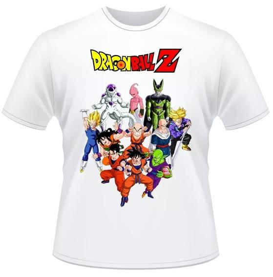 Camiseta Infantil Cod1 Dragon Ball Z Anime Desenho Camisa