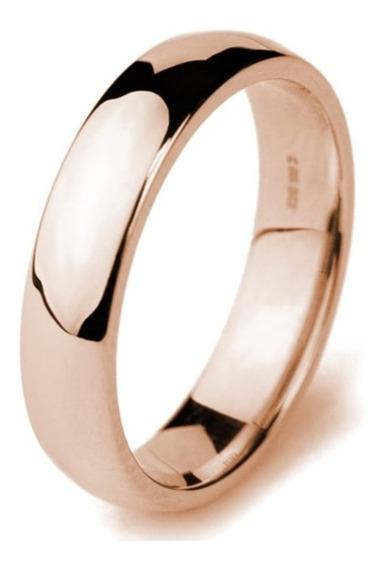 Argolla Confort Baño De Oro Rosa Anillo Matrimonio 8310021