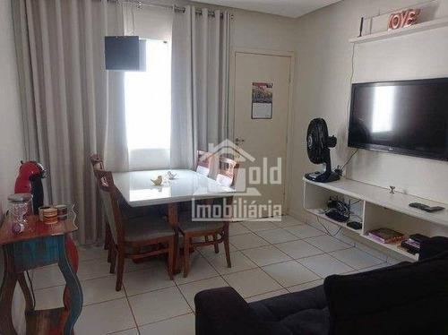Apartamento Com 2 Dormitórios À Venda, 47 M² Por R$ 160.000 - Jardim Maria Goretti - Ribeirão Preto/sp - Ap4579