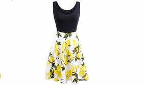 Vestido Casual Vintage Importado Miami Colores Primavera