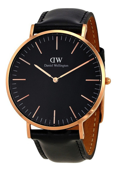 Reloj Daniel Wellington Classic Sheffield Dorado Negro 40mm