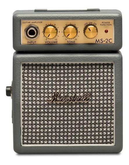 Amplificador Marshall Micro Amp MS-2 Transistor 1W cinza-escuro