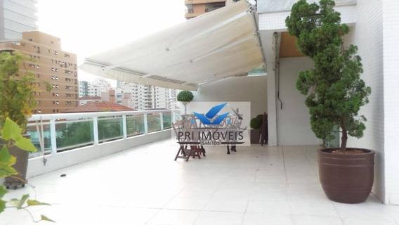 Apartamento Garden Para Alugar, 600 M² Por R$ 12.000,00/mês - Aparecida - Santos/sp - Gd0015