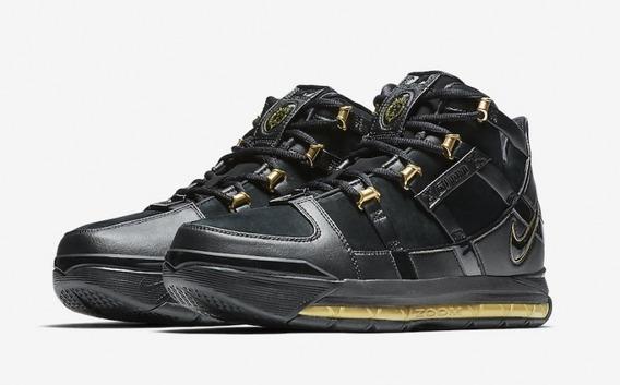 Tênis Nike Lebron Iii Qs - Lebron 3 Black Metallic Gold