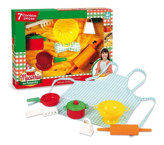 Brinquedo Nig Macarrao Na Panelinha C/07 Pecas