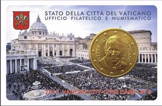 Bkz / Vaticano - Blister 50 Cent 2015 Papa Francisco
