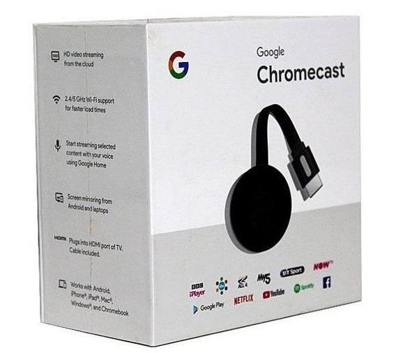 Chromecast 3 Original - Transforme Sua Tv Em Uma Smart Hdtv