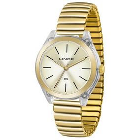 Relógio Lince Feminino Lrg4484p C1kx Dourado Analogico 5atm