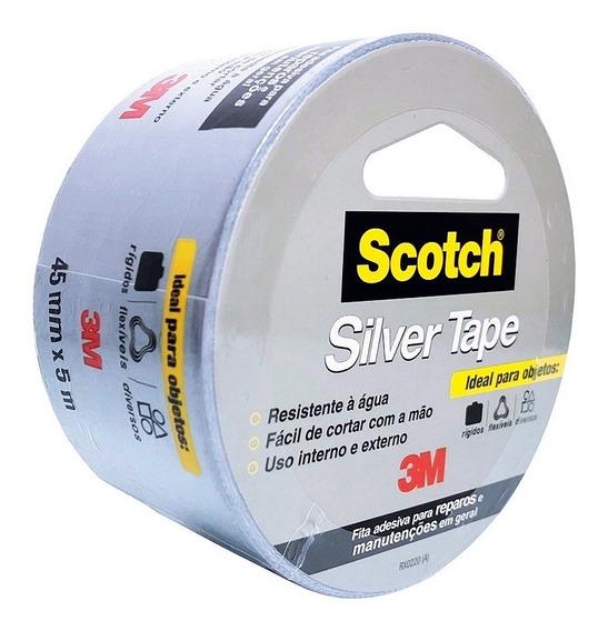 Fita 3m Tape Scotch Silver 45mm X5m Resistente Alta Adesão