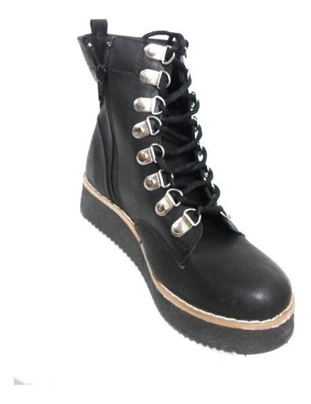 Borcego Broches Alpinos Plataforma Calzado Zapato Mujer Fiorcalzados