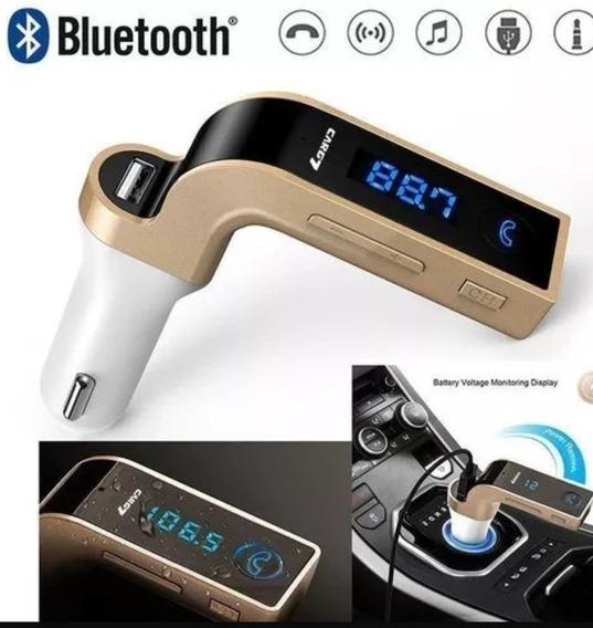 Transmissor Bluetooth Veicular Fm Mp3 Pendrive Tomada 12v
