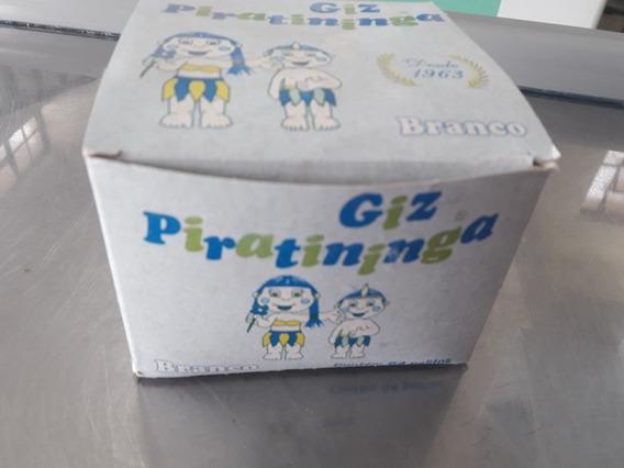 2 Caixas De Giz Branco Piratininga Com 64 Palitos