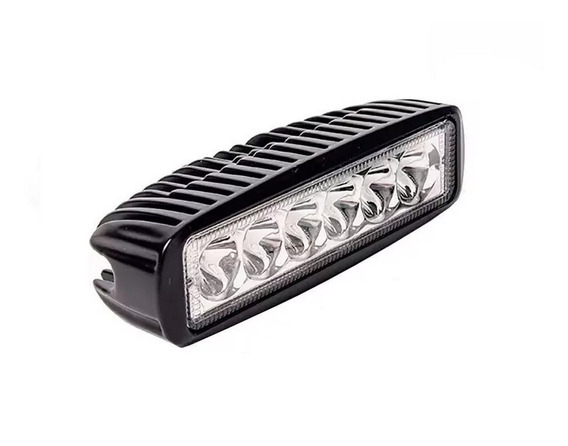 Faro Auxiliar Barra 18w 6 Leds Flood Spot Off Road