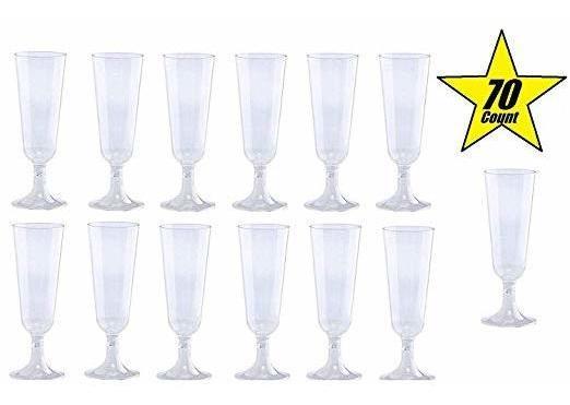 70pc Del Brillo De Plástico Classicware De Cristal Como Las