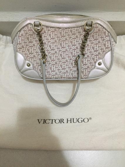 Bolsa Victor Hugo Original Em Couro Perolizado