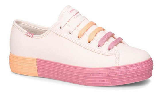 Zapatilla Triple Kick Colorblock Foxing Urbana Rosa Keds