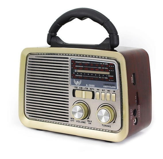 Radio Retrô Altomex A3188 Vintage Fm Am Sd Usb Antigo Bivolt