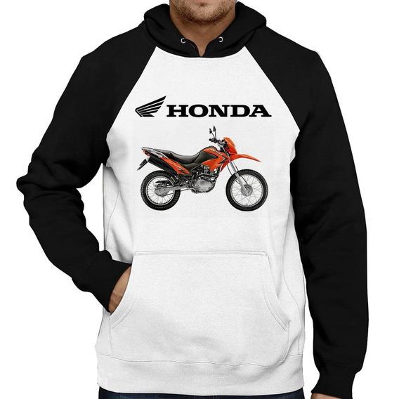 Moletom Moto Honda Nxr 150 Bros Laranja