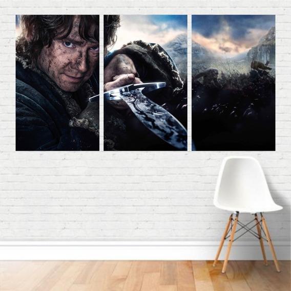 Quadro Em Tela Canvas Filme - Bilbo Baggins O Hobbit 125x65