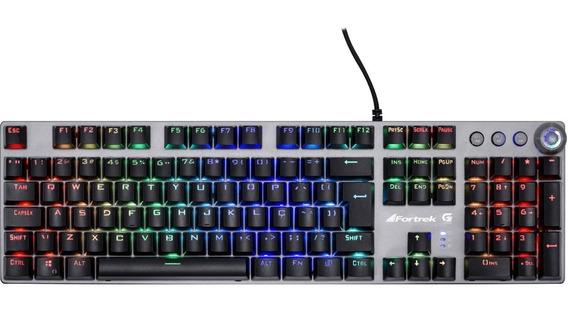 Teclado Gamer Mecânico Gpro K7 Rgb Plus Fortrek 22 Efeitos
