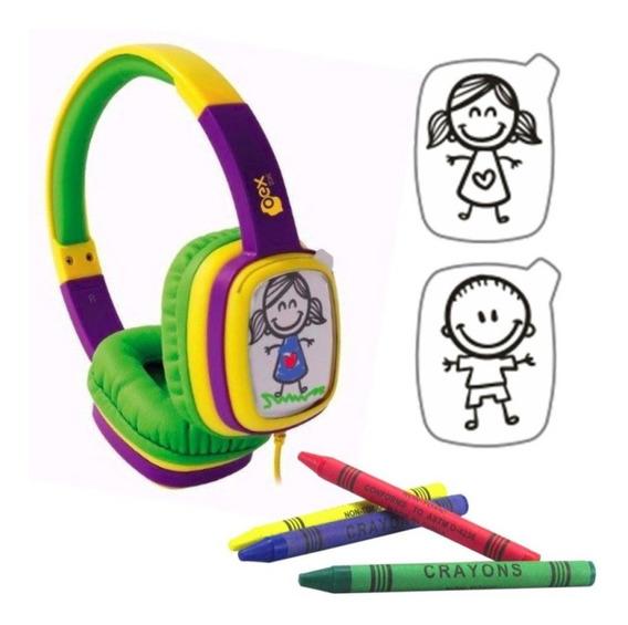 Fone De Ouvido Infantil Headphone Cartoon Kids Oex
